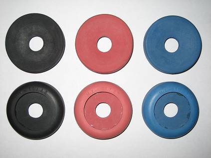 Black, Red and Blue MX-41/AR headset cushions